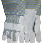Gauntlet Full Feature Leather Palm Knuckle Strap Shoulder Leather Gloves 0760825NT